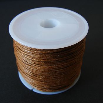 Brown Cotton Wax Cord 1mm (25m/roll)