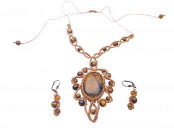 "Macrame set ""Tiger eye"""