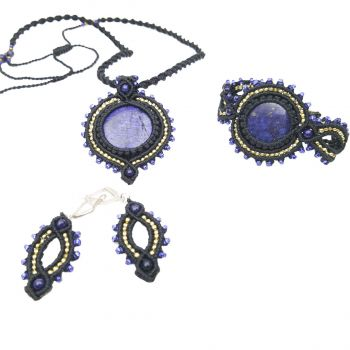 "Micro-macrame set ""Polar night"""