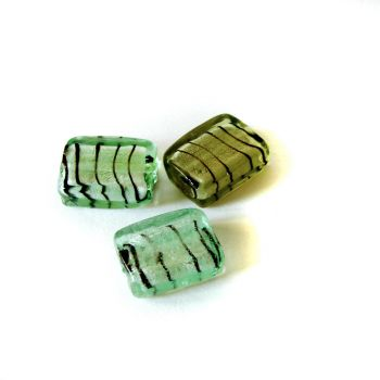 Plastic beads Green Zebra - color is Green