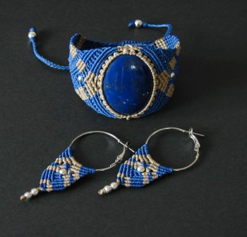 """Lapis lazuli set """"Colors of the night"""" - color is Blue"""