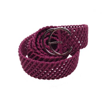 "Fancy macrame belt ""Red Cherry"""