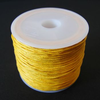Yellow Cotton Wax Cord 1mm (25m/roll)